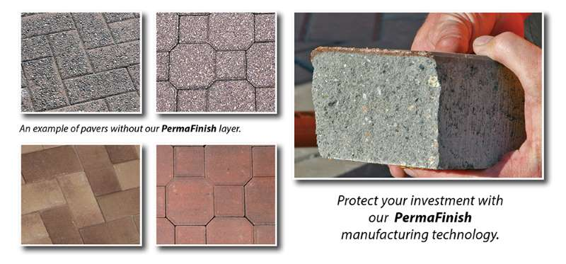 an example of paving stones with Permafinish