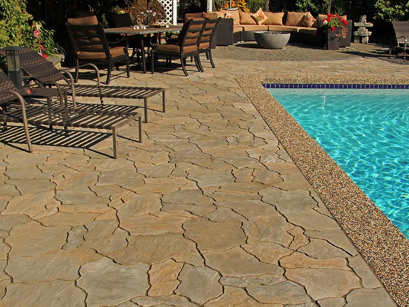 The look of natural stone at a fraction of the cost.